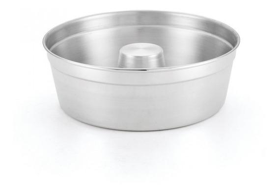 Forma De Bolo Número 26 Alumínio Polido Assadeira Prata