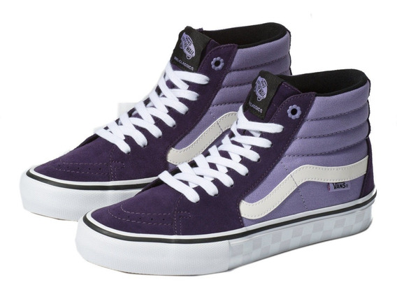 Tenis Vans Sk8 Hi Pro La Mystic Morado Skate Pro Sneakers