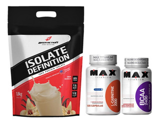 Isolate Definition 1,8kg + L-carnitina 120 Cáp Max + Bcaa 60