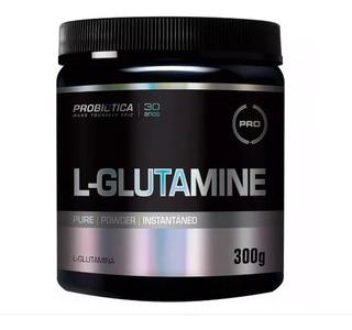Glutamina L-glutamine 300g Probiótica Ganho De Massa