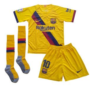 Kit Infantil Barcelona 2019/2020 Messi - Pronta Entrega