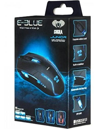 Mouse Gamer Usb 1600dpi Cobra Ii E-blue