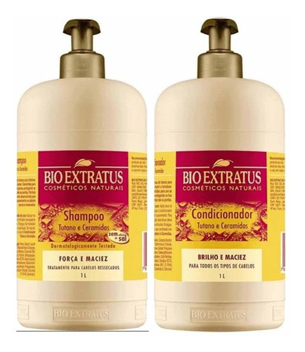 Kit Bio Extratus Tutano Shampoo 1l E Condicionador 1l