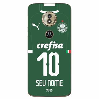 Capinha Moto G6 Play Palmeiras Camisa 2019 Com Nome E Numero