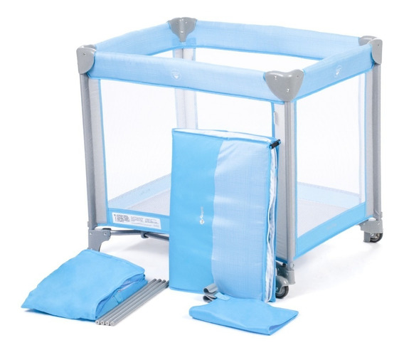 Berço Azul Portátil Desmontável Mini Play Safety 1st