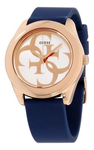 Reloj Guess W0911l6 G Twi Mujer Silicona Azul 100% Original