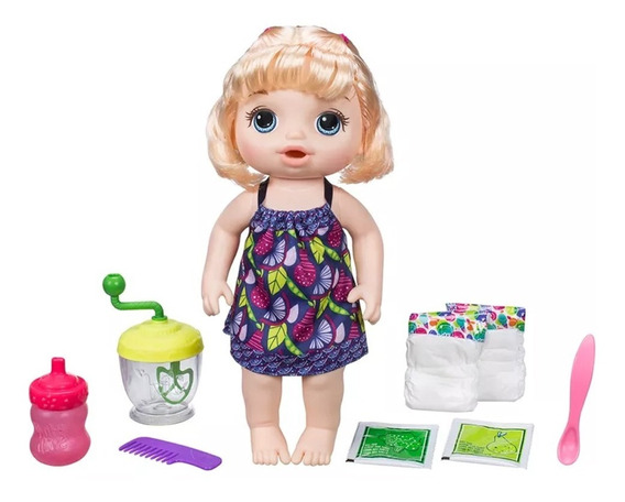 Boneca Hasbro Baby Alive Loira, Papinha Divertida