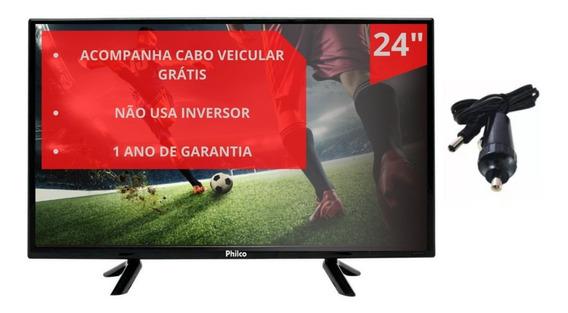 Tv Digital 24 Led Hdmi 12v Caminhões Ônibus Motor Home Barco
