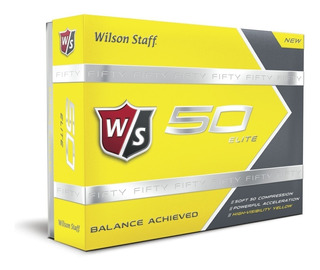 Kaddygolf Pelotas Golf Wilson Fifty Amarillas Caja X 12