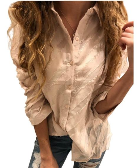 Camisa De Gasa Diagonales, Varios Colores Y Talles