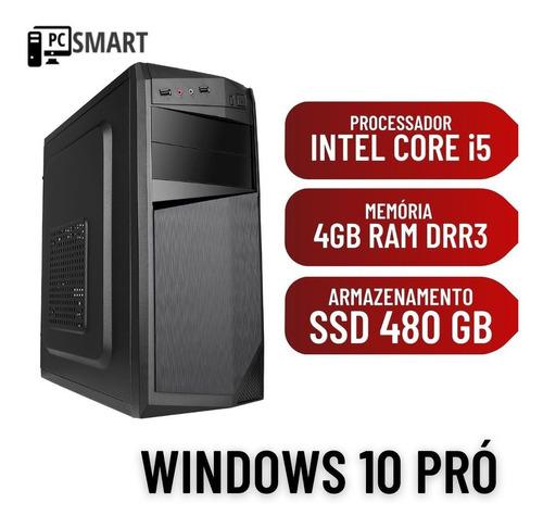 Imagem 1 de 2 de Computador Cpu Desktop Pc Core I5 4gb Ssd 480gb Windows 10