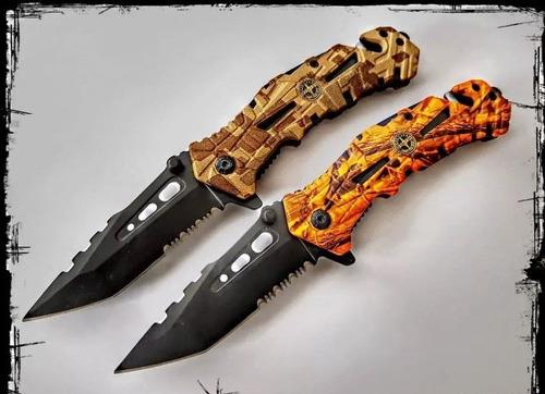 Canivete Dobrável Forças Especiais Tático Militar Camuflado