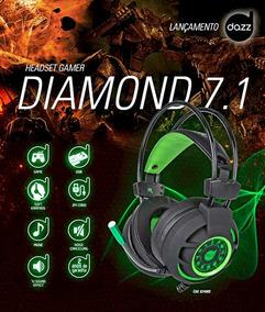 Fone Gamer Dazz Diamond 7.1 Usb Gold