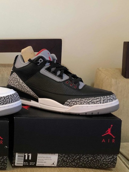 Tênis Nike Air Jordan 3 Black Cement, Tam 43, Cond. 9.5/10