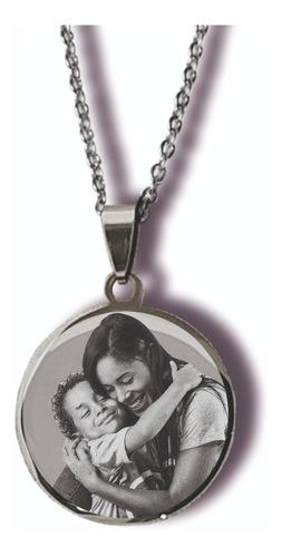 Medalla  Con Foto Personalizada En Acero Quirúrgico