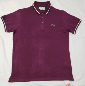 Camisa Polo Lacoste Logo Emborrachado Masculino Top