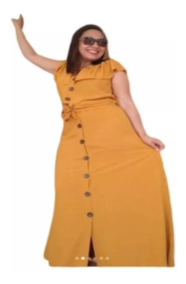 Saia Longa + Cropped Em Viscose Conjunto Feminino Moda Verão