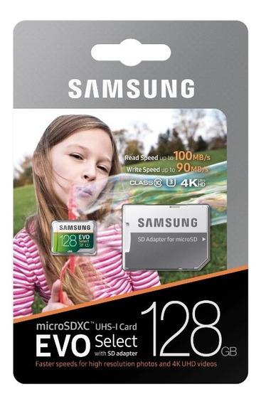 Cartão Micro Sd Samsung 128gb 100mb/s 4k Go Pro Igual Lexar