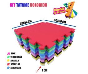 Tapete De Eva Tatame Infantil 20 Placas Emborrachado 50x50cm