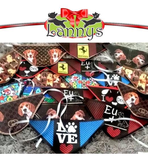 Combo 300 Bandanas Em Courino Personalizadas Com Logomarca.