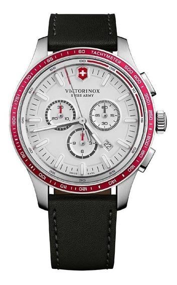 Relógio Victorinox 241819 Alliance Couro Preto Original