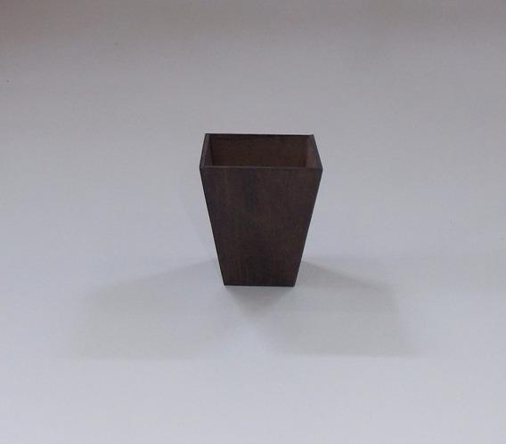 Vaso Mdf Kit 17 Vasos Quadrado Cone 8x7x7 3mm Verniz