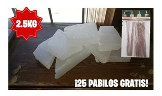 Parafina Refinada 58/60 2.5 Kg Veladora + 25 Pabilos
