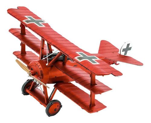 Figura Para Armar En Metal! Fokker Dr.i Plane- Modelismo