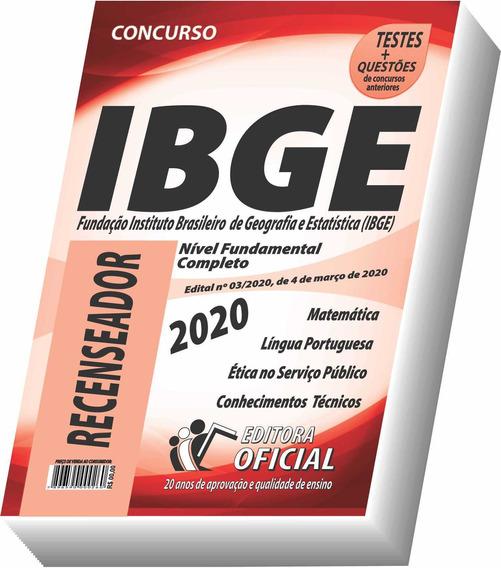 Apostila Ibge - Recenseador - Frete Grátis !