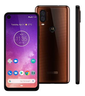 Smartphone Motorola One Vision Xt1970 128gb 48mp Bronze