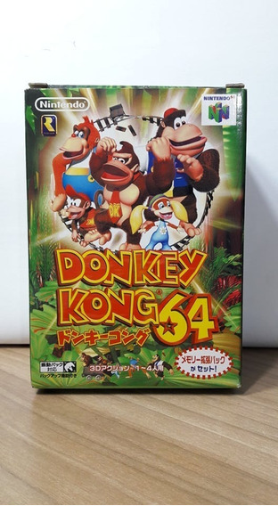 Donkey Kong 64 Nintendo 64 Japonês Na Caixa