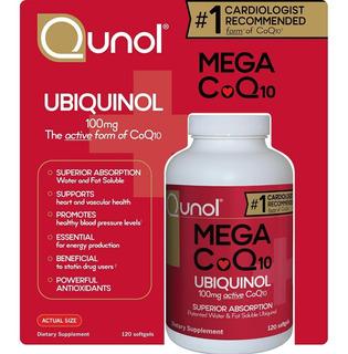 Qunol Mega Coq10 Ubiquinol 100 Mg (120 Softgels)