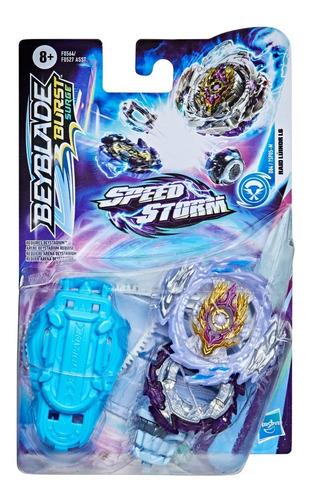 Imagen 1 de 4 de Beyblade Speedstorm Trompo + Lanzador Raid Luinor L6 Hasbro