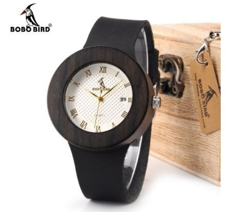 Relógio Feminino Bambu C02 Bobo Bird Calendário