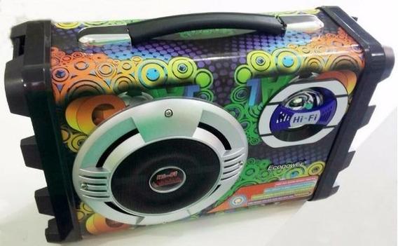 Caixa Som Ecopower Ep-2220 Bluetooth Usb Com Microfone