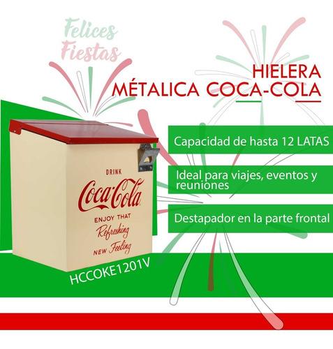 Imagen 1 de 7 de Hielera Metálica Coca-cola Dace Hccoke1201v