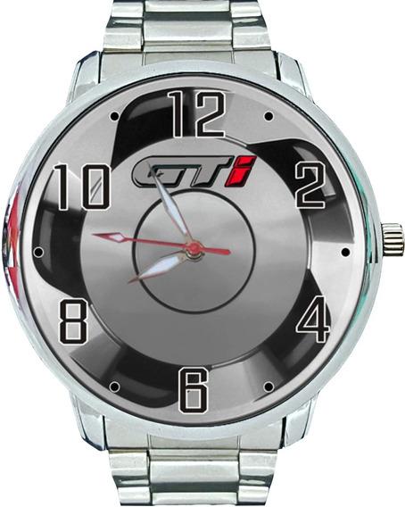 Relógio Pulso Masc. Volkswagen Golf Gti Gol Gti Roda Orbital