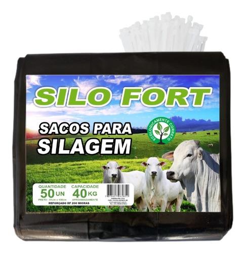 Imagem 1 de 9 de Sacos Para Silagem Prt 51x100 200 Micra 300un C/abraçadeiras