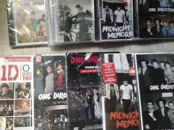 Coleção Cds E Dvds One Direction