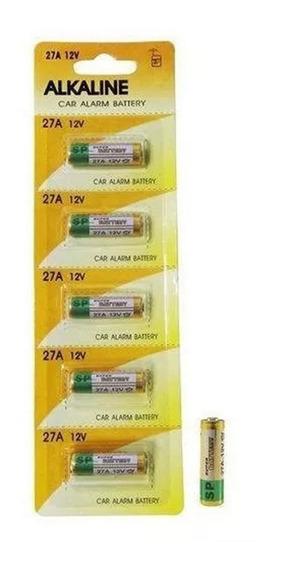 Kit 5 Pilha 27a 12v + 5 Pilha 23a Bateria Alcalina Fina Cartela