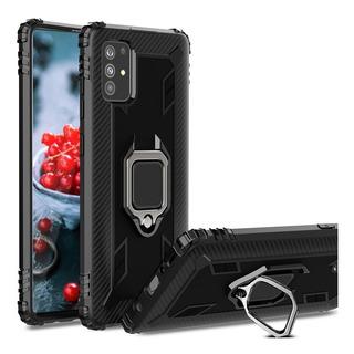 Samsung Galaxy A71 Carcasa Shockproof Fiber Anillo