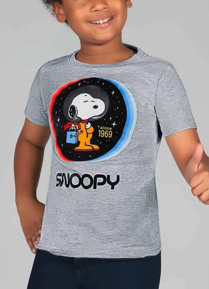 Moderna Playera Snoopy Astronauta Peanuts Niño Lic. Original