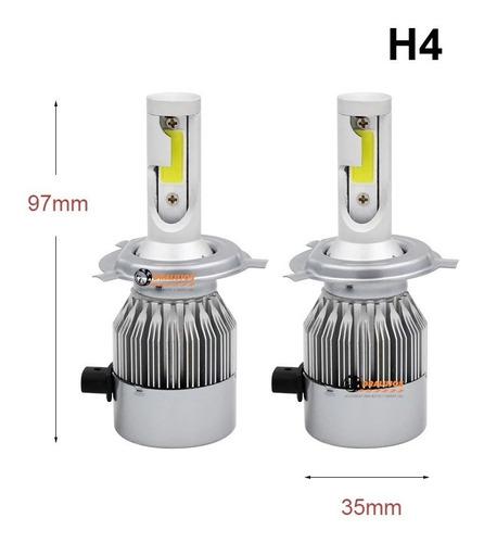 1 Bombillos Luz Led H4 72w 3800lumens C6 Carro Alta Potencia