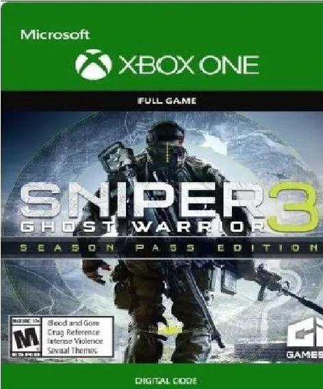 Sniper Ghost Warrior 3 Season Pass Xbox One Código 25 Digito