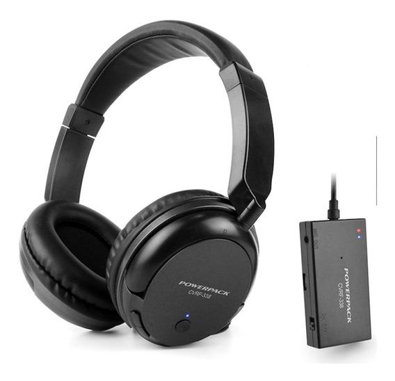 Fone Sem Fio Powerpack Cvrf338 Microfone/fm - Pronta Entrega