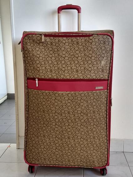 Valija Cuero, Calvin Klein, Grande Xxl, 156 Litros 4 Ruedas