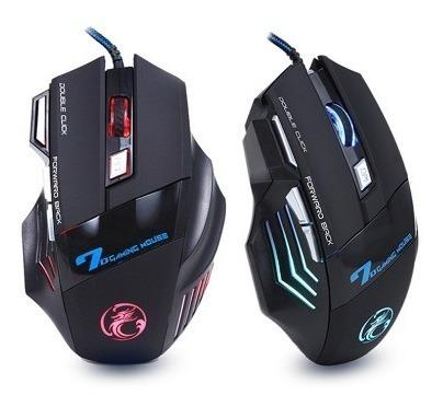 Mouse Gamer 5500 Dpi Led Óptico Usb - Alta Precisão