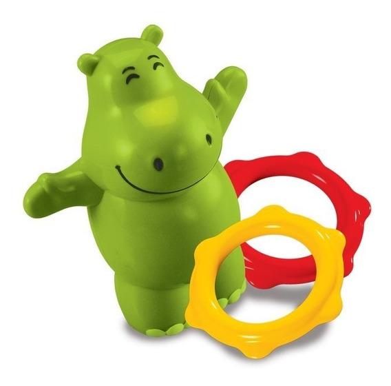 Bimbi Hipopótamo Silbador Al Sumergirlo Con 2 Aritos