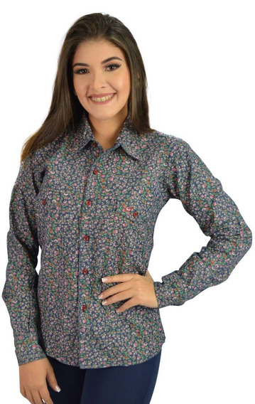 Camisa Social Feminina Jeans Florida - Não Perca