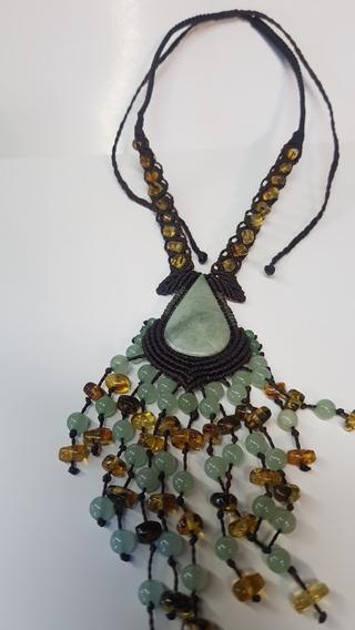 Collar De Ámbar Con Jade Manzano Y Jadeita